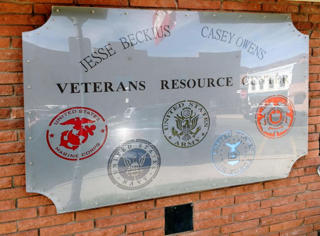 Jesse Beckius-Casey Owens Veterans Resource Center sign