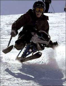 Casey Owens skiing