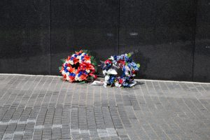 "Wreathes laid in memory of fallen at the Vietnam Memorial… ""The Wall"""