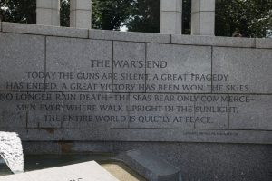 WWII Memorial MacArthur Quote