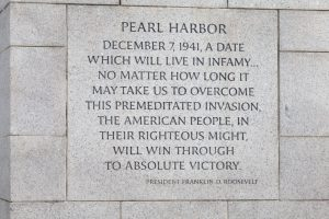 President FDR quote - WWII Memorial