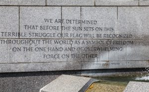 WWII Memorial Marshall Quote