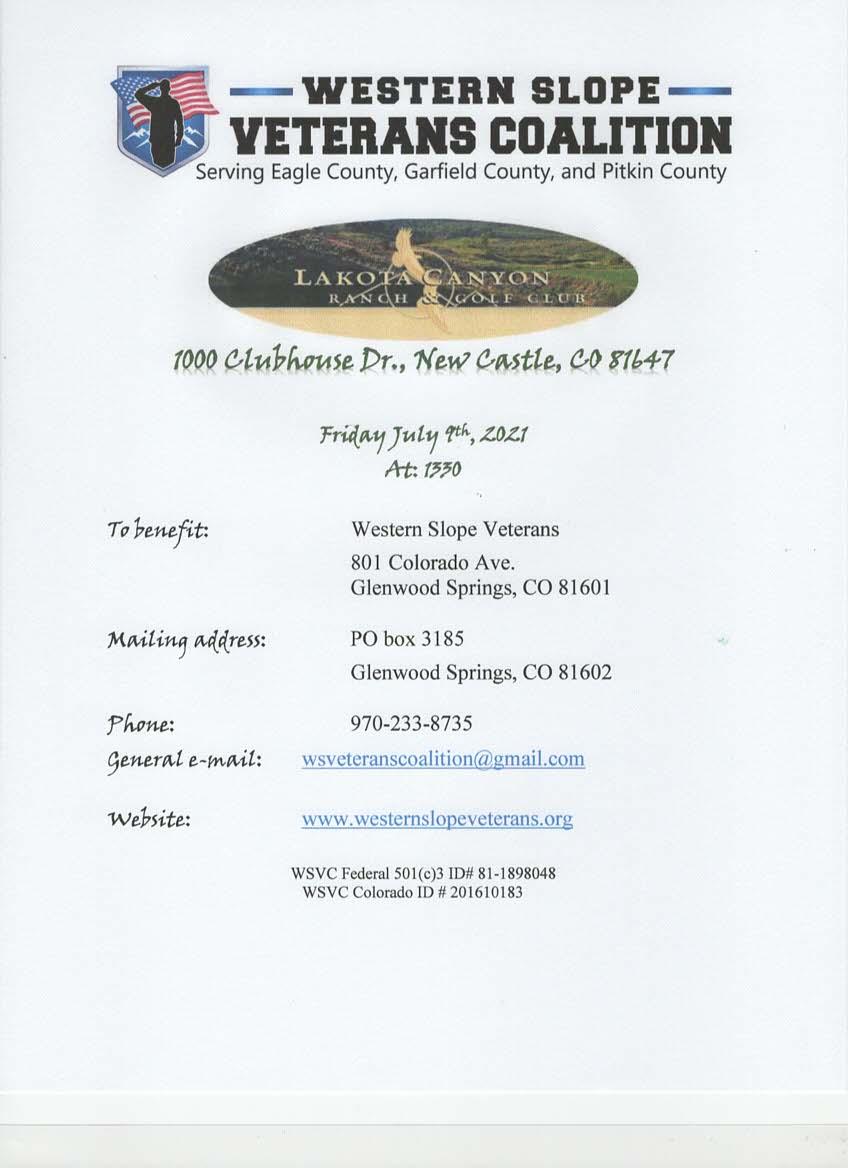 WSVC Golf Tournament